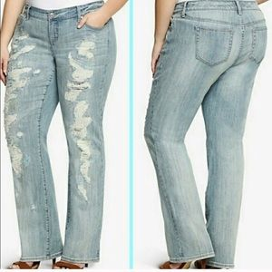 Torrid Relaxed Premium Distressed Sequined 24w